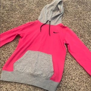 Pink and grey Nike hoodie